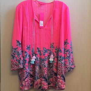 Lilly Pulitzer Marilina Tunic Pink Tropics Tunic